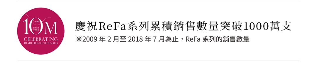 慶祝ReFa系列累積銷售數量突破1000萬支